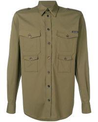 Dolce & Gabbana - Long Sleeved Military Shirt - Lyst