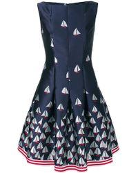 Talbot Runhof - Boat Print Flared Dress - Lyst
