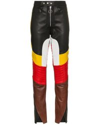 Marques'Almeida - Contrast Panelled Leather Trousers - Lyst