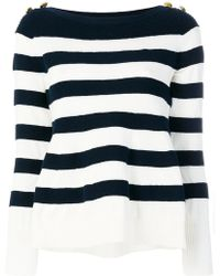 Sacai - Striped Jumper - Lyst