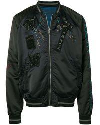 DIESEL Reversible Embroidered Bomber Jacket