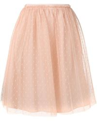 RED Valentino - High Waisted Tulle Skirt - Lyst