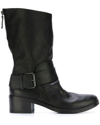 Marsèll | Rear Zip Buckled Boots | Lyst