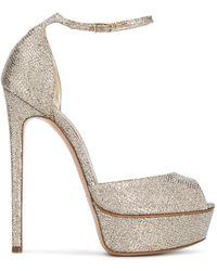 Casadei - Platform Ankle Sandals - Lyst