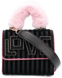 Les Petits Joueurs - Love Embellished Shoulder Bag - Lyst