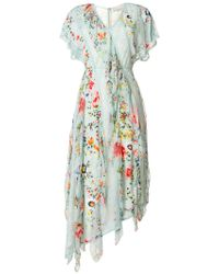 Alice + Olivia - Floral Soiree Dress - Lyst