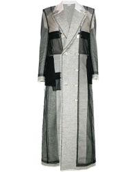 Thom Browne - Long Patchwork Coat - Lyst