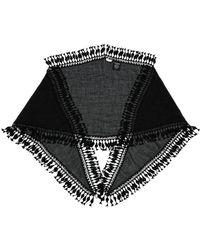 Saint Laurent - Long Tassel Embellished Stole - Lyst