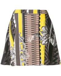 Versace Jeans - Printed A-line Mini Skirt - Lyst
