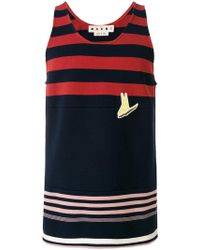 Marni - Striped Tank Top - Lyst