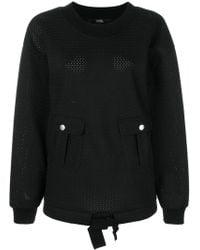 Karl Lagerfeld - Oversized Mesh Sweatshirt - Lyst