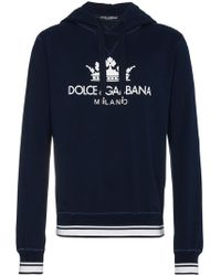 Dolce & Gabbana - Logo Print Cotton Hoodie - Lyst