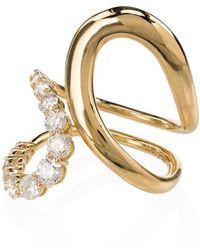 Melissa Kaye - 18kt Yellow Gold Aria Jane Twist Diamond Ring - Lyst