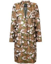 Smythe - Foliage Jacquard Coat - Lyst