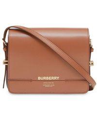 af71536a5bbf Lyst - Burberry Willenmore Shoulder Bag in Natural
