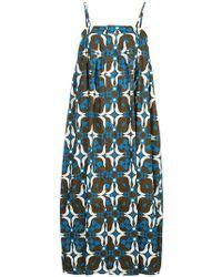 Astraet - Printed Oversized Cami Dress - Lyst