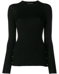 Versace - Medallion-embellished Ribbed Sweater - Lyst