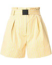 N°21 - Paperbag Waist Gingham Shorts - Lyst