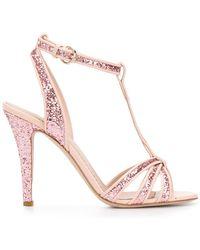 RED Valentino - Glitter Mary Jane Sandals - Lyst