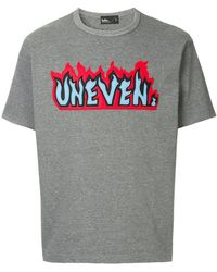 Kolor - Flame Slogan Patch T-shirt - Lyst