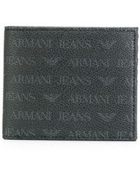 Armani Jeans - Monogrammed Portfolio Wallet - Lyst