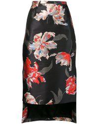 Rochas - Floral Print Pencil Skirt - Lyst