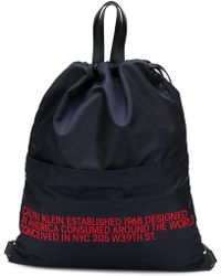 CALVIN KLEIN 205W39NYC - Embroidered Text Backpack - Lyst