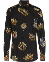 Dolce & Gabbana Crown Print Shirt
