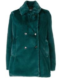 Closed - Fuzzy Double-breasted Coat - Lyst