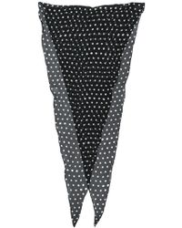Saint Laurent - Polka Dot Scarf - Lyst