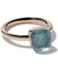 18kt rose & white gold Nudo white topaz ring - Unavailable POMELLATO G7BELLo8