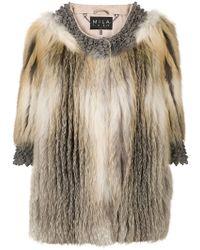 Cara Mila - Roxanne Fur Coat - Lyst