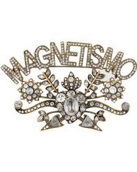 Gucci - Magnetismo Crystal Brooch - Lyst