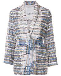 Giada Benincasa - Belted Tweed Jacket - Lyst