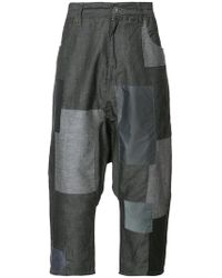 Mostly Heard Rarely Seen - Patchwork Cropped Pants - Lyst