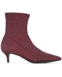 Schutz - Shimmer Sock Boots - Lyst