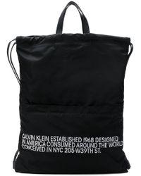CALVIN KLEIN 205W39NYC - Logo Drawstring Backpack - Lyst