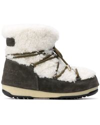 Yves Salomon - Shearling Lace-up Boots - Lyst
