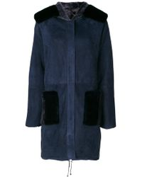 Manzoni 24 - Panelled Hooded Coat - Lyst