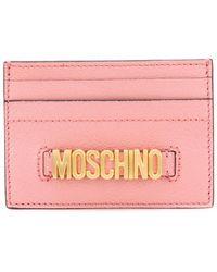 Moschino - Logo Plaque Cardholder - Lyst