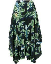 Stella McCartney - Asymmetric Ruffle Skirt - Lyst