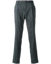 PT01 - Striped Cropped Trousers - Lyst