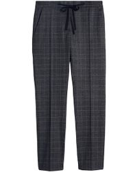 Burberry - Prince Of Wales Check Trousers - Lyst
