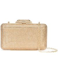 Inge Christopher - Metallic Box Clutch - Lyst