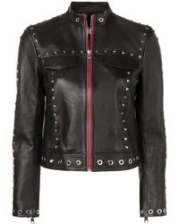 Karl Lagerfeld - Studded Leather Jacket - Lyst