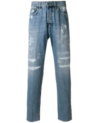 Eleventy - Slim Distressed Jeans - Lyst