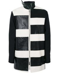 Rick Owens - Stripe Panel Coat - Lyst