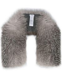 Inverni - Knitted Cashmere Fox Fur Stole - Lyst