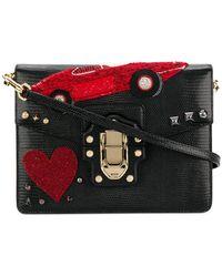 Dolce   Gabbana Dg Family Patch Sicily Shoulder Bag in Black - Lyst a6ec21ab59bcc