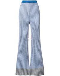 Mrz - Intarsia Knit Flared Trousers - Lyst
